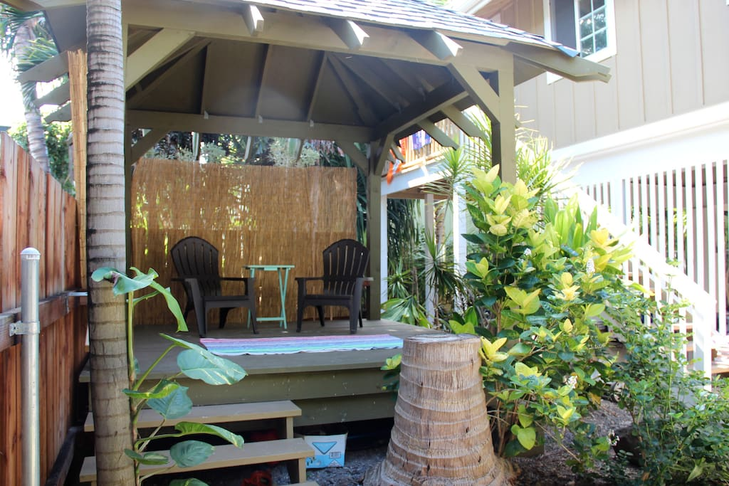 Gazebo area for relaxing with coffee or morning yoga