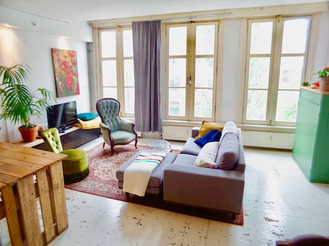 Cozy Bright Vintage Loft, in the Heart of Town!