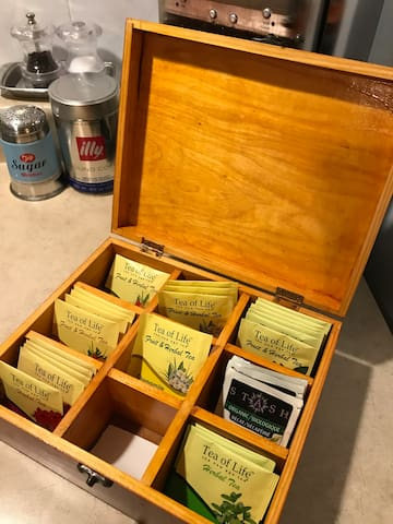Complimentary tea and coffee!
