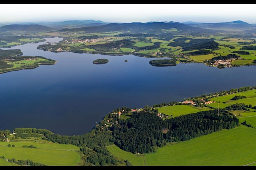 The widest and windiest water place in Czech, perfect place for eatersports and bicycling