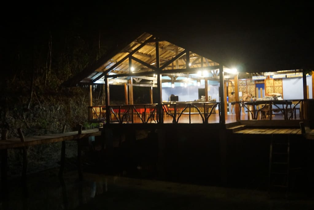 Restaurant at night time
