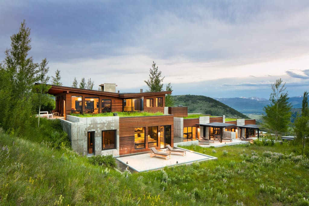 This 5-bedroom home sits on a hill with gorgeous views of the Tetons. Yes, it's time to relax.
