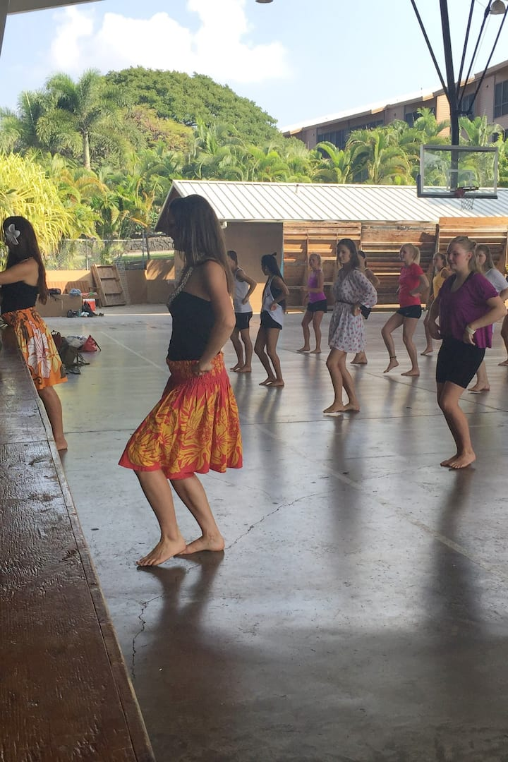 Hula class in Hawaii