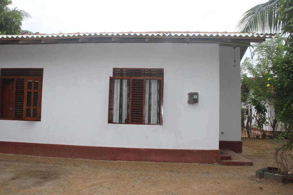 The house from one side
