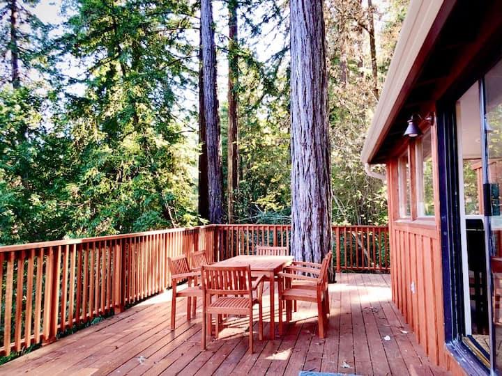 Secluded, Views, Spa, huge deck!