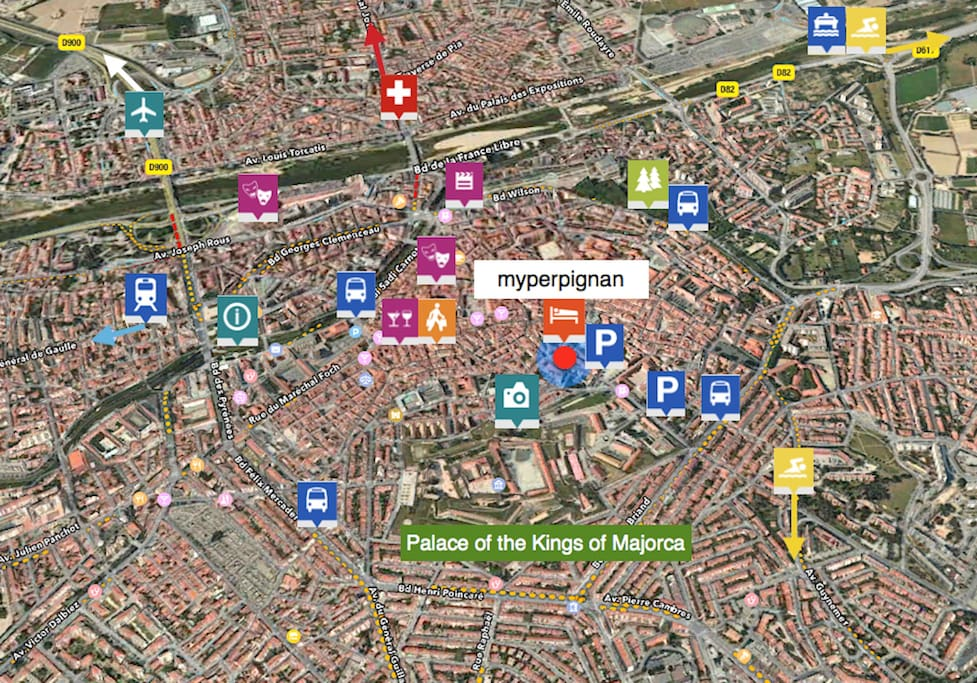 Perpignan Centreville. See our location an all around