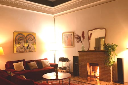 CASA LUNA Historical  house with real  fireplace