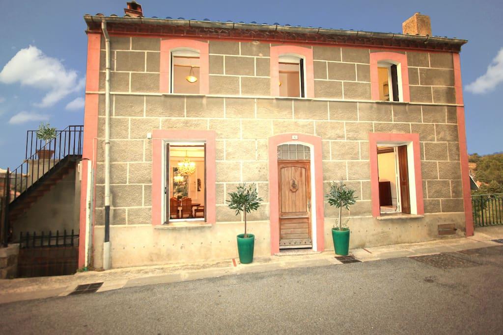 Front of our Grande Maison des Oliviers