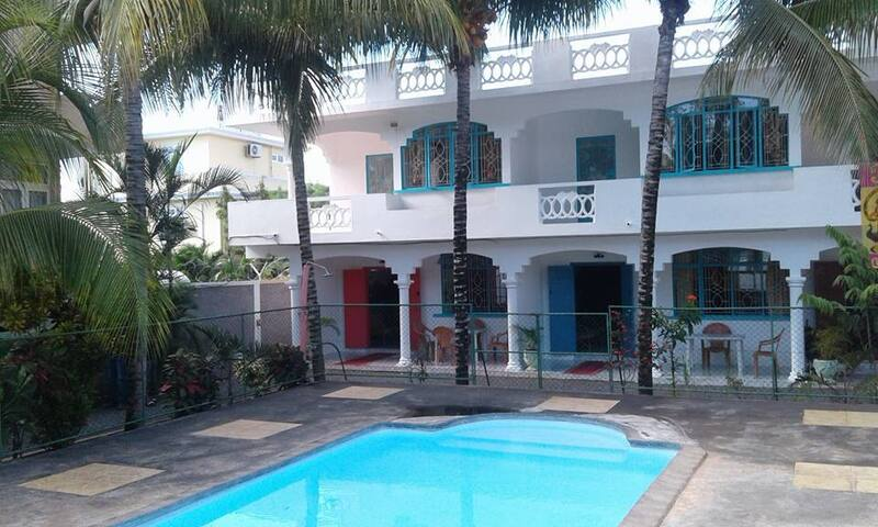 Maison creole spacieuse avec piscine Flic en Flac - Flic en Flac - Hus