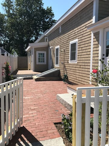 Shared patio and deck