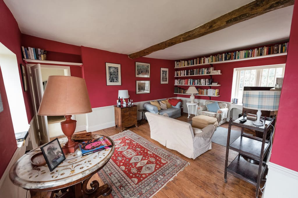 Private study with TV and honesty bar is available