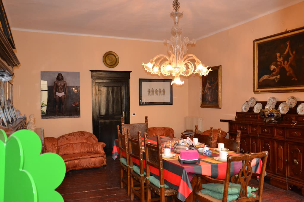 La sala da pranzo per le colazioni
