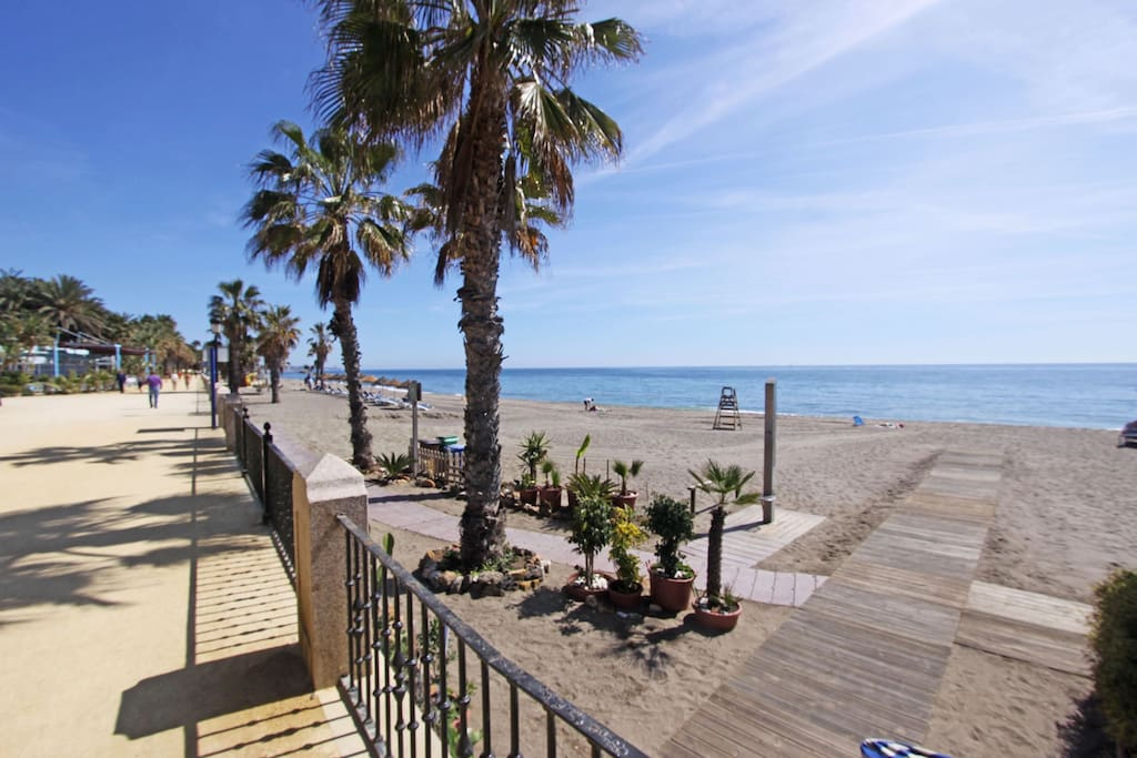 this is our beach promenade about 600 meters away