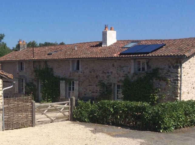 La Gasne, French farmhouse with pool in 25 acres.