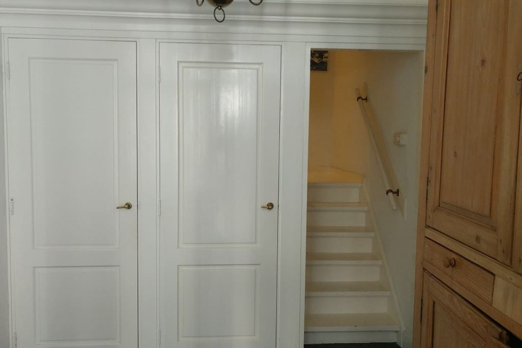 When you arrive in our hallway you can go straight up To the first Floor where the rooms are stated