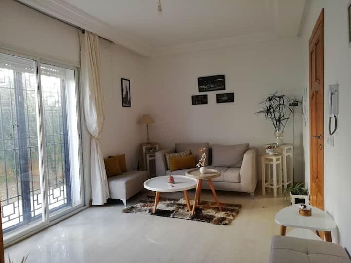 Appartement avec jardin à la Soukra
