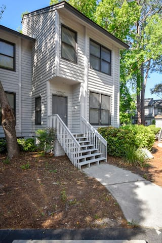 2 bedroom, 2.5 bath townhouse that is just steps away from the on-site swimming pool.