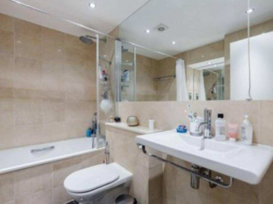 Modern bathroom, shower