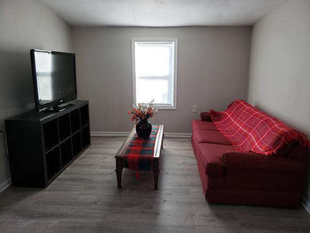 Newly Renovated 2 bedrooms, 1 bath w/ Sofa-Sleeper