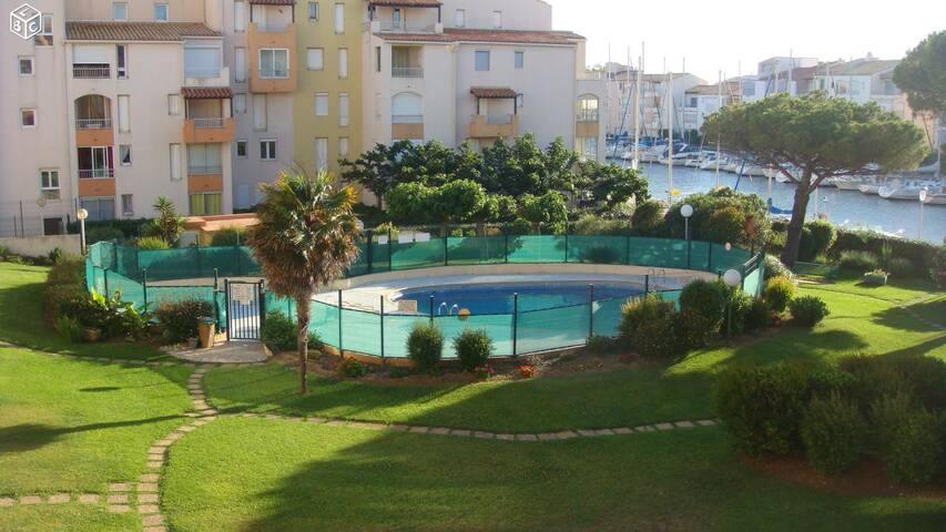 Studio 6 couchages proche de la plage - Cap d'Agde