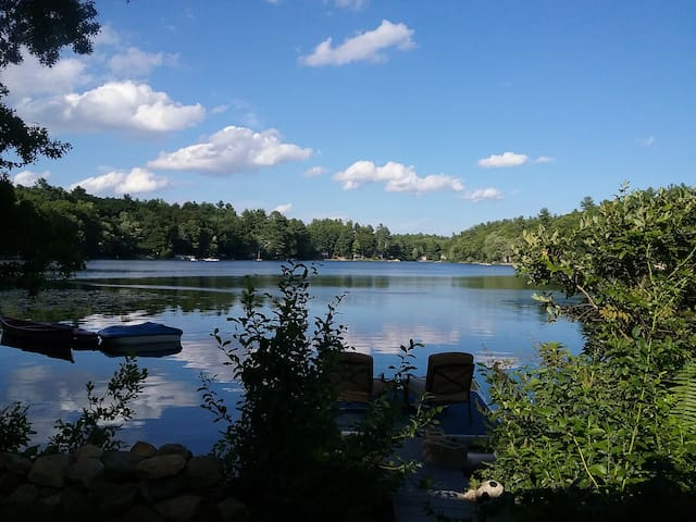 Charming Waterfront Cottage on Quiet Pond - Windham - Dom