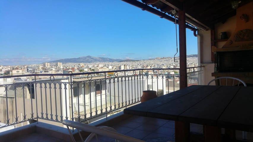 Magnificent view of Athens appartment