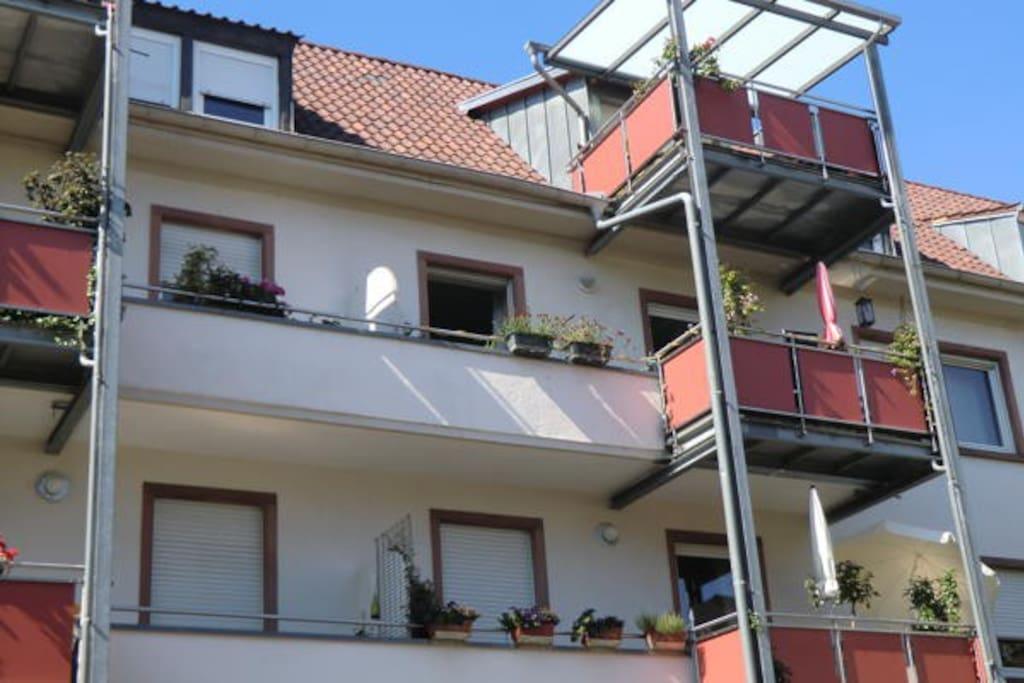 Balkon, 2. Etage