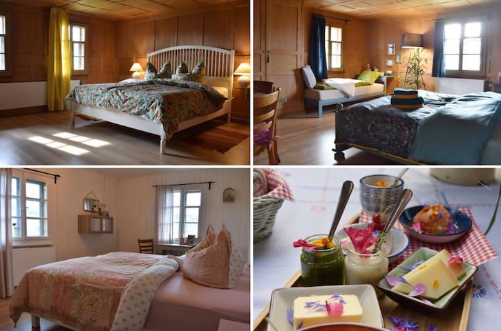 Urlaub in altem Schweizer Bauernhaus für 6-7 Gäste