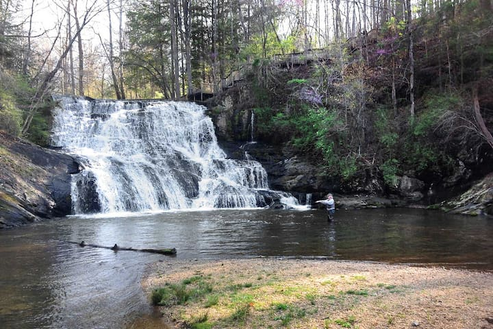 'Waterfall Cottage' w/ Views of Cane Creek Falls!