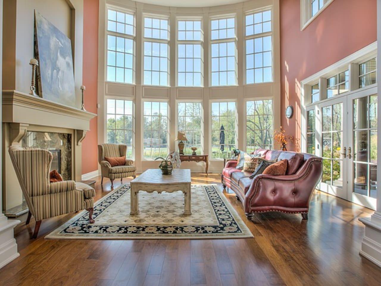 Living Room with beautiful sunshine