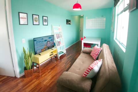 Designer apartment with parking - great location