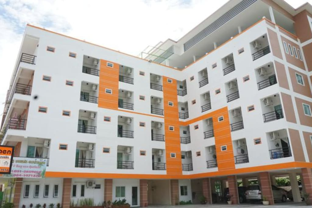 V @ Bangsaen, the apartment is located in this building.