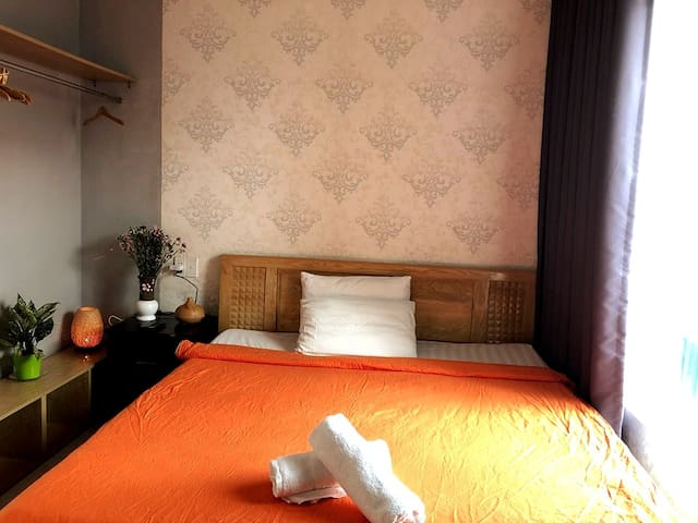 Bed in District 1 Bui Vien. Ho Chi Minh City. SGN.