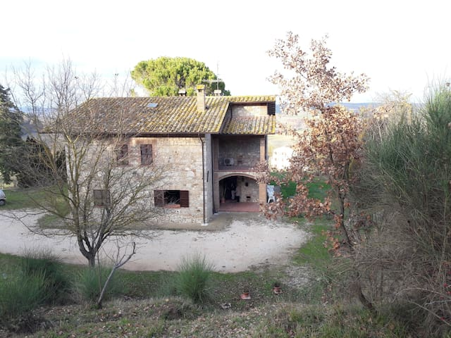 la casa dall'alto, the house from the top