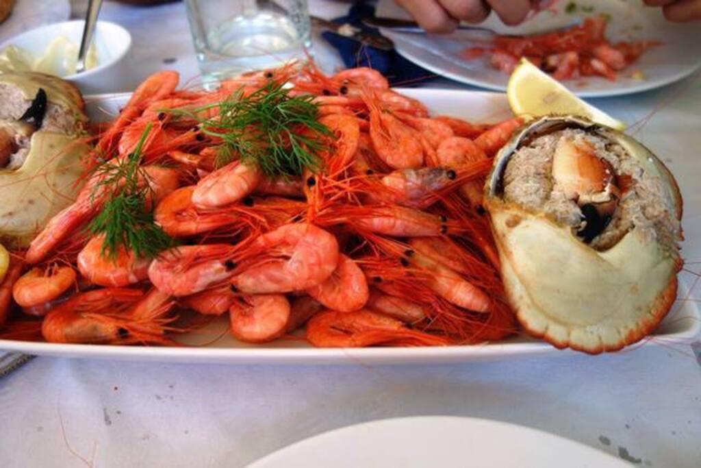 Ferske reker fra Engelsviken. Fresh shrimps.