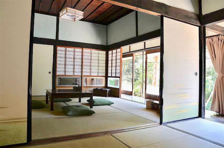 Guest room. You can enjoy Tatami. It's so comfortable.