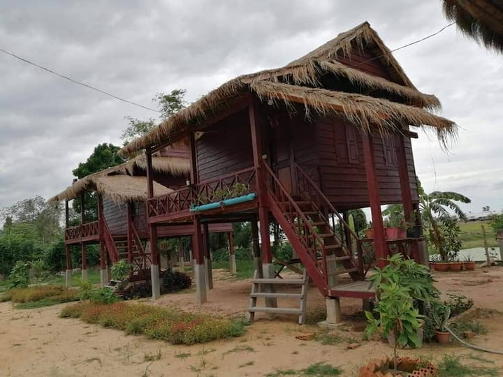 Bungalows in Countryside of Siem Reap