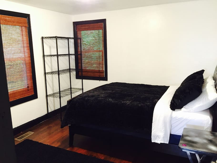 """Theme room called """"Riders On The Storm"""", a tribute to the late great Jim Morrison from The Doors. She sleeps 4 because a luxury air mattress may be set up to sleep an additional 2. :-)."""