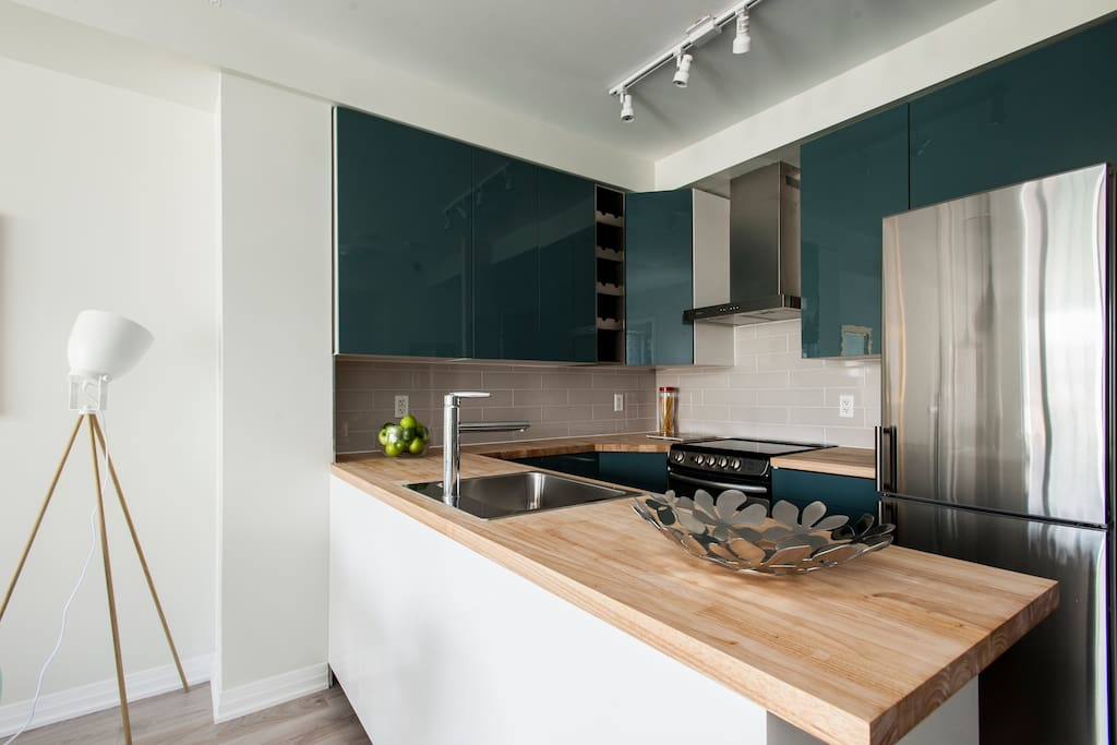 Real butcher block counters