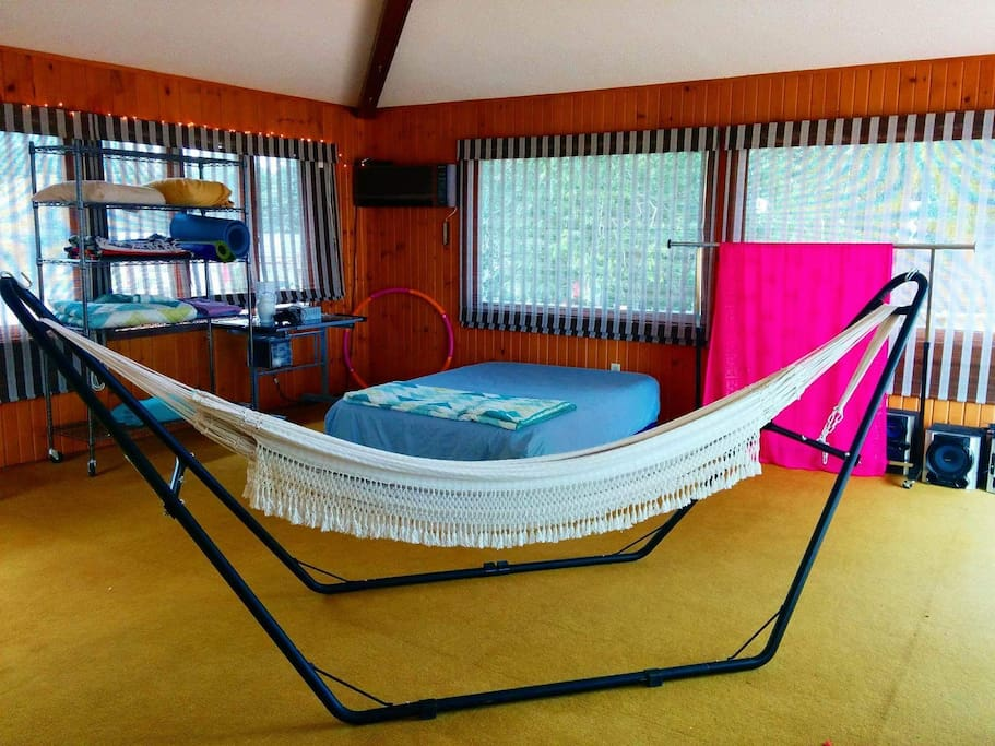 The Wapishana hammock is fully hand made, including hand spinning the cotton, over approximately 4 months