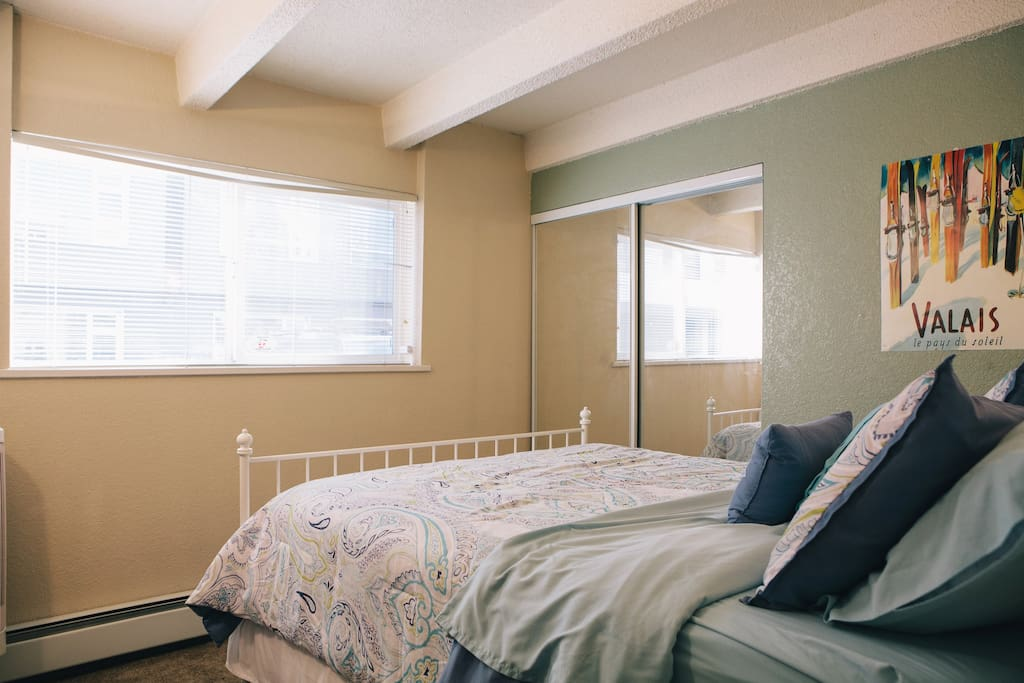 Bedroom. Please note: there is no t.v. or air conditioning in the bedroom.