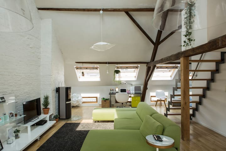 Spacious loft in the city centre