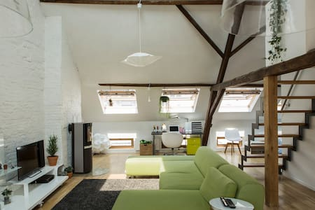 Spacious Loft in the historic city centre