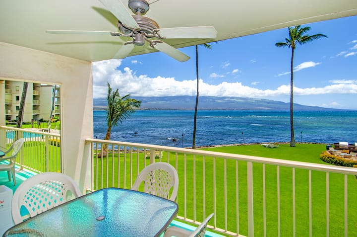 MK214 - Maui Ocean Front Vacation Rental Condo in Quiet Resort-Great View!