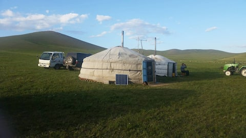 Herder's home in countryside of Mongolia
