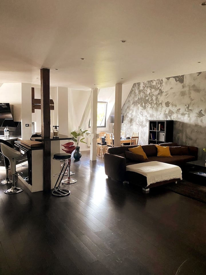 Duplex de 115m2 secteur Pompidou - 2 chambres