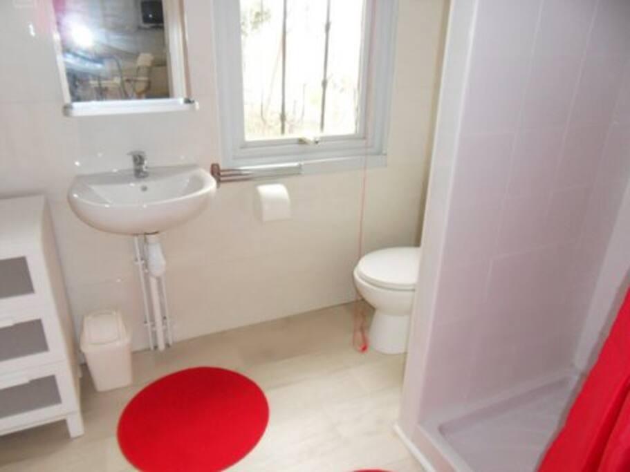 salle de bain et lave linge