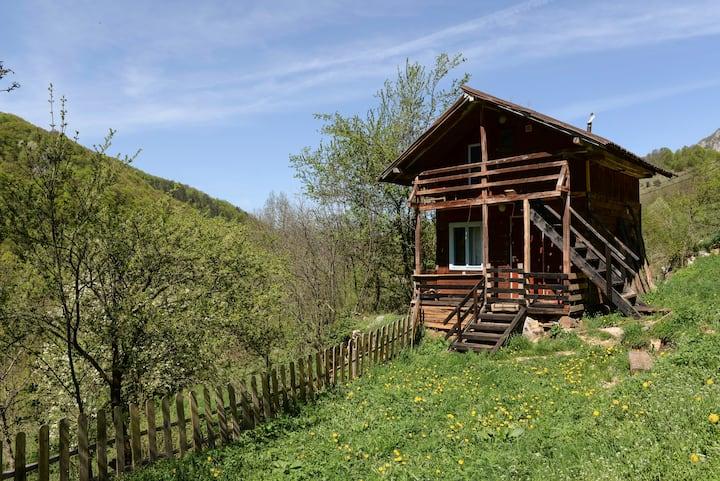 Wooden Cabin at the Falls, Apuseni, Transylvania