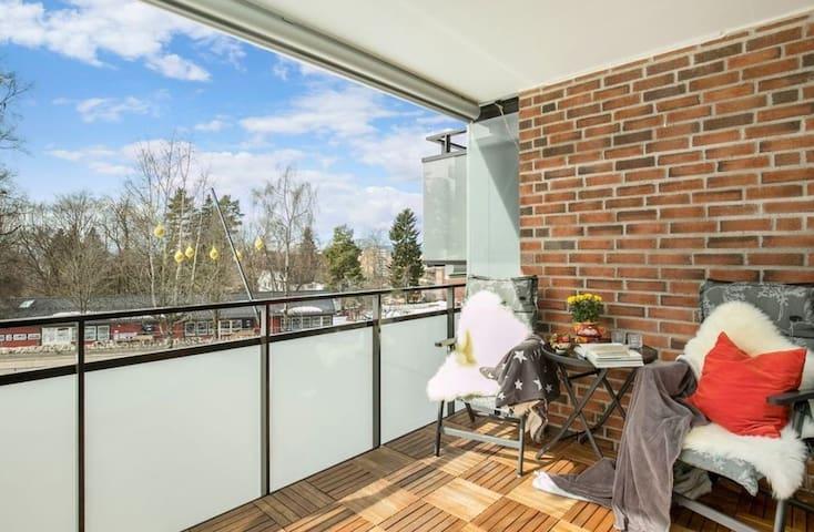 3-roms leilighet med balkong.Nær marka&sentrum