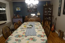 Dinning room available for use
